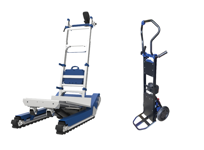Motorized ergonomic hand trucks and trolleys