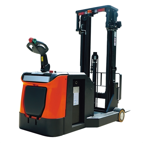 Counterbalanced stand-up rider electric stacker with 1800 kg load capacity