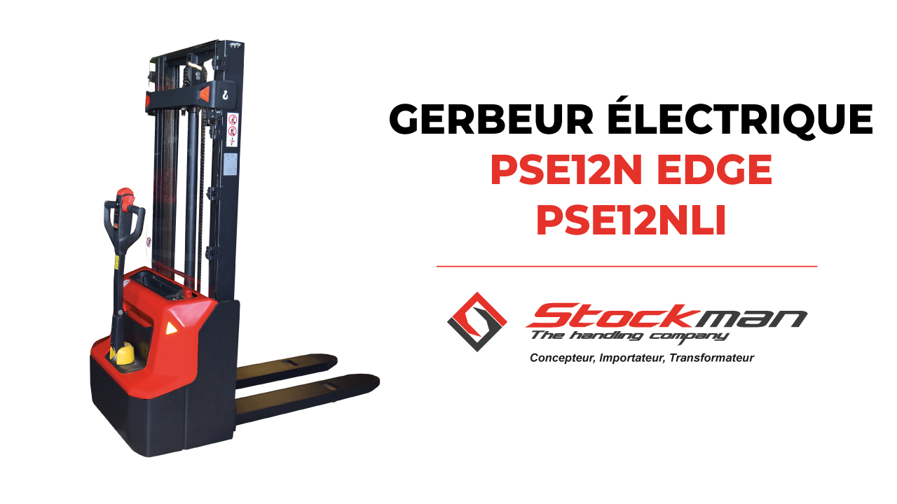 The PSE12N and PSE12N LI electric stackers