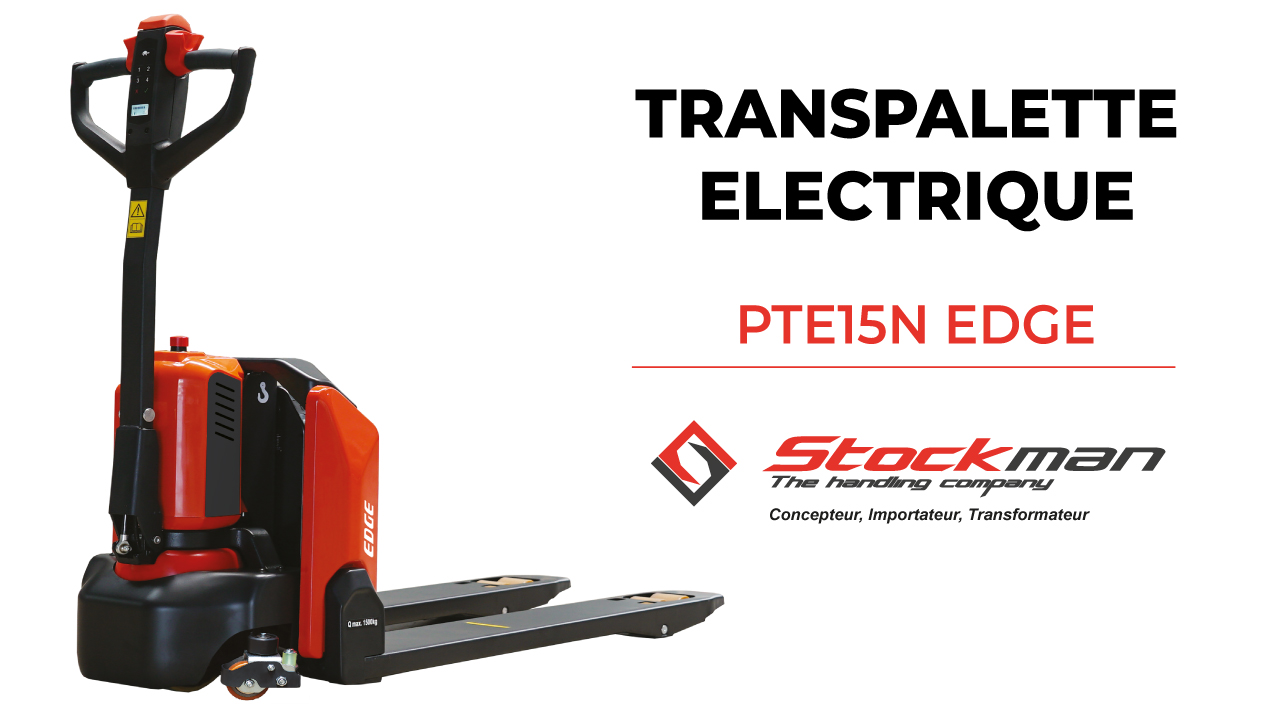 The PTE15N EDGE electric pallet truck