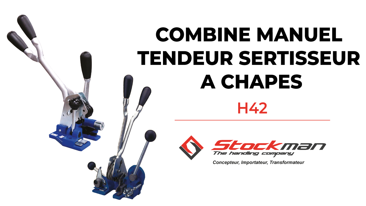 The combined manual tensioner and sealer for polypropylene strapping (models P1604 or P1605)