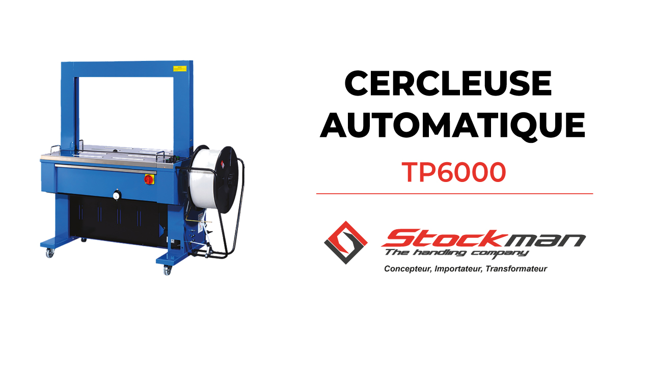 The TP6000 automatic strapping machine (2 models: 220V and 380V)