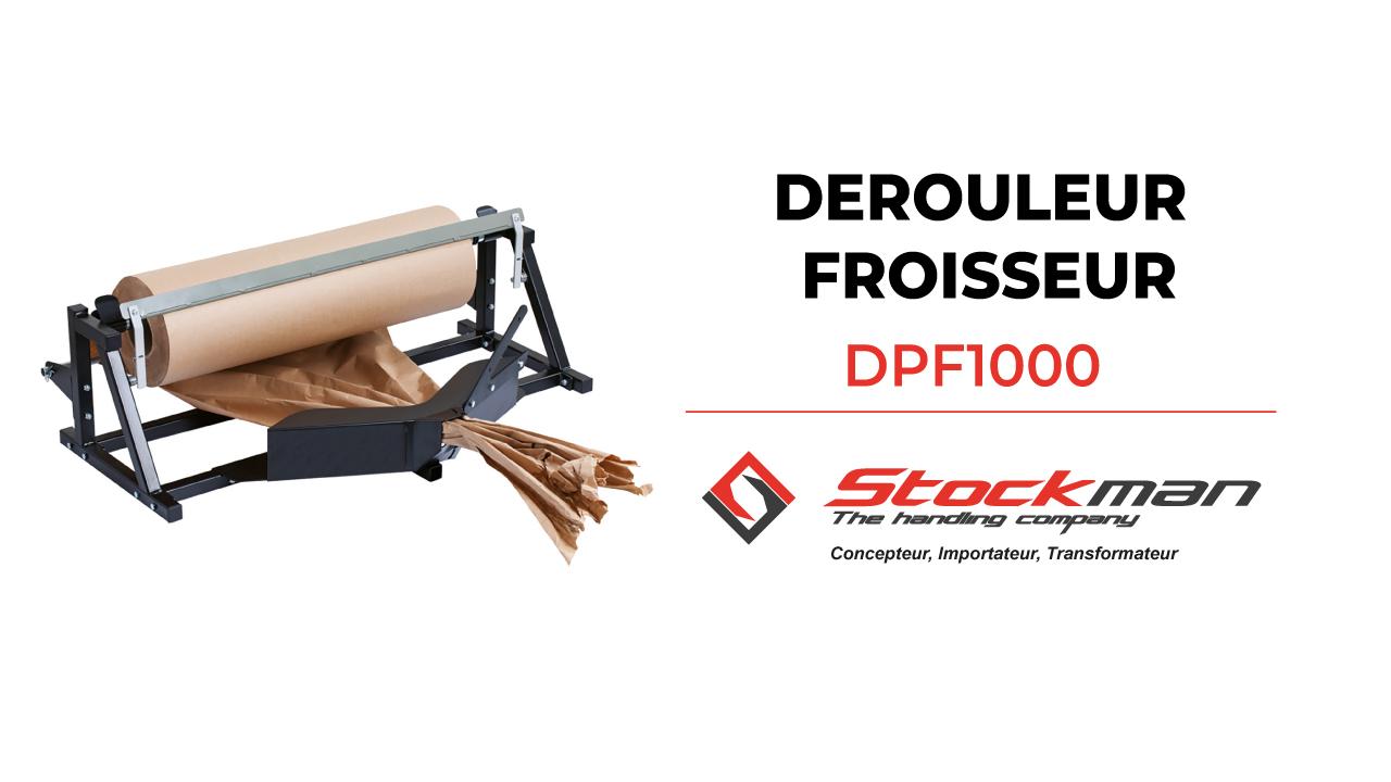 The DPF1000 paper roll dispenser / cutter / crumpler