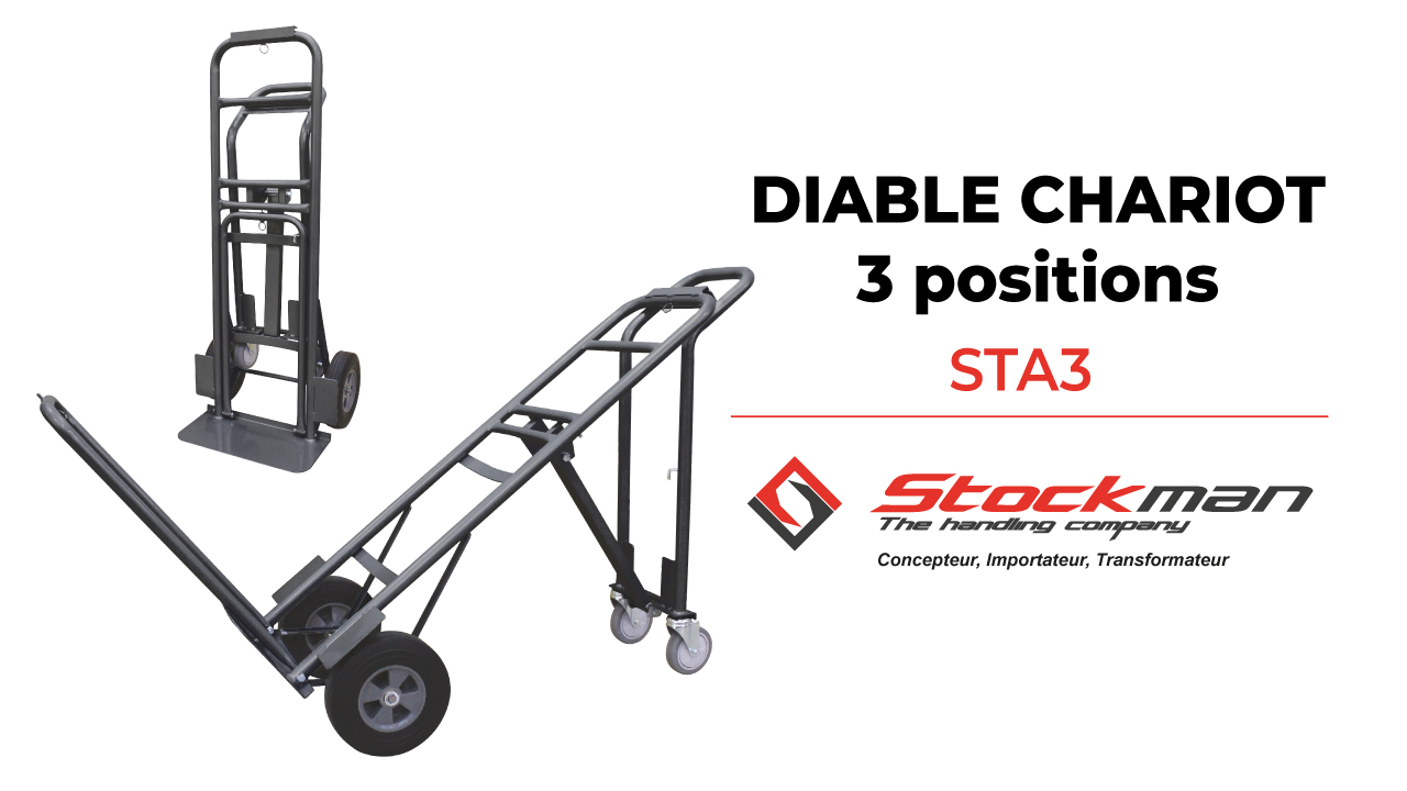 The 3 positions steel sack truck STA3