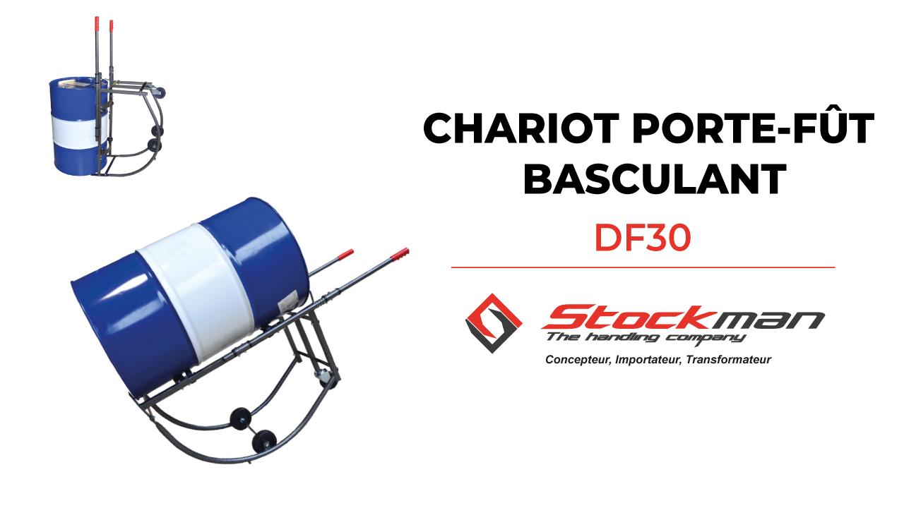 DF30 steel rotating drum cart
