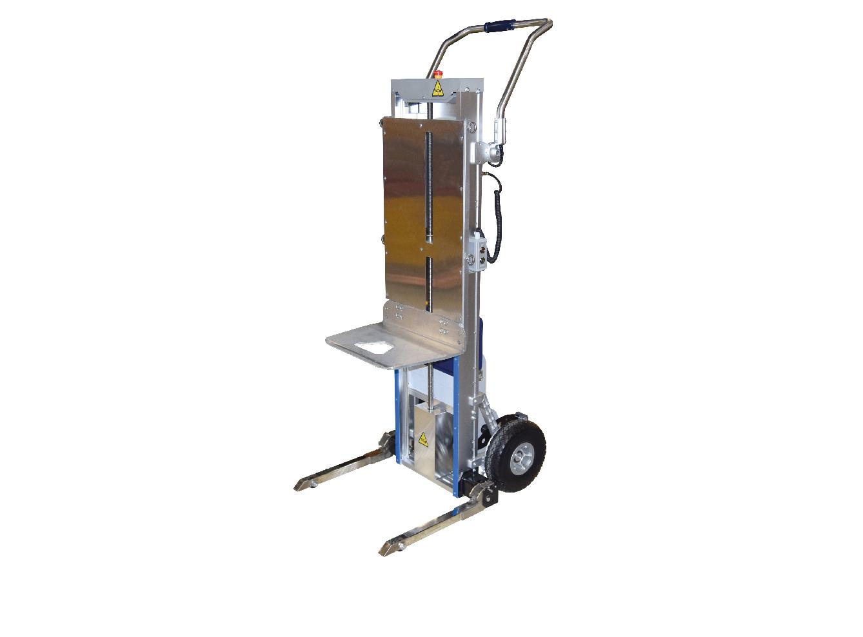 Diables/gerbeurs monte-escaliers électriques aluminium