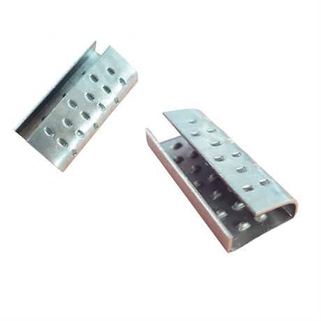 Chapes semi-ouvertes renforcées pour feuillards 12 mm PP et PET