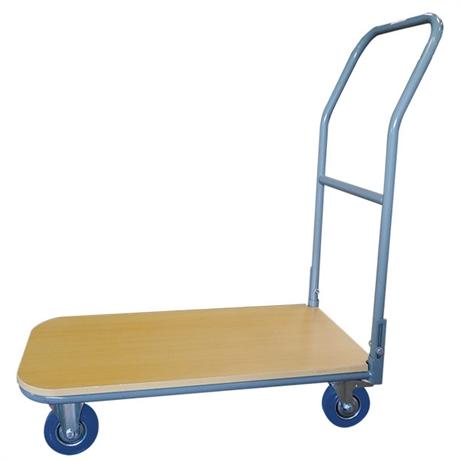 Chariot plateau bois 250 kg dossier fixe ou repliable