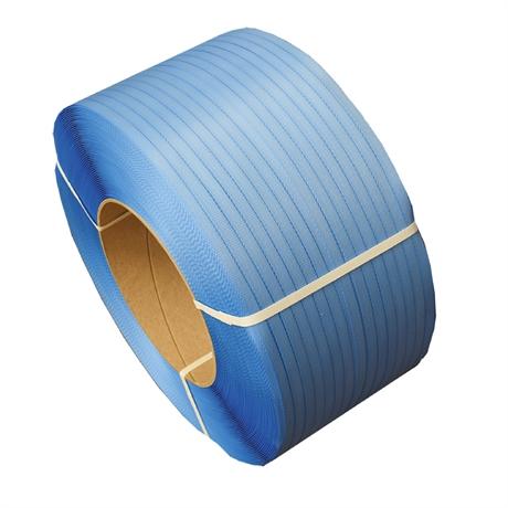 FPP2B - Feuillard polypropylène PP 12x0,55 mm resistance 120 kg BLEU - par 2 bobines