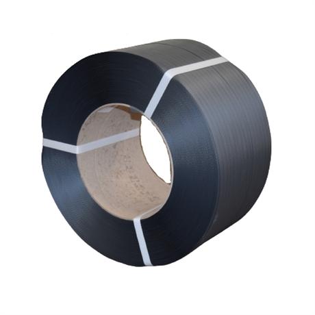 FPP2N - Feuillard polypropylène PP 12x0,55 mm resistance 120 kg NOIR - par 2 bobines