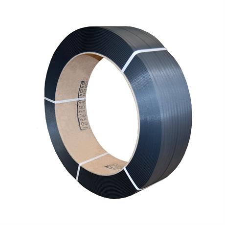 FPP6 - Feuillard polypropylène PP 15,5x0,75 mm resistance 297 kg NOIR - par 1 bobine