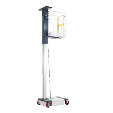 Mini nacelle à mât vertical motorisée hauteur de travail jusqu'à 4950mm