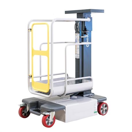 Mini nacelle à mât vertical manuel hauteur de travail jusqu'à 4950mm