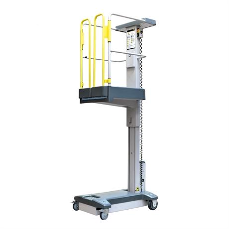 Mini nacelle à mât vertical semi-électrique hauteur de travail jusqu'à 3500mm