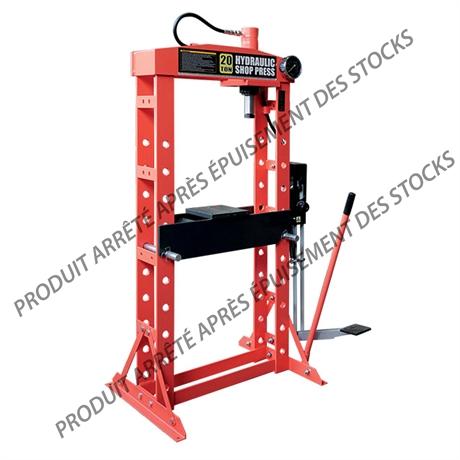 Presse d'atelier hydraulique 20 tonnes