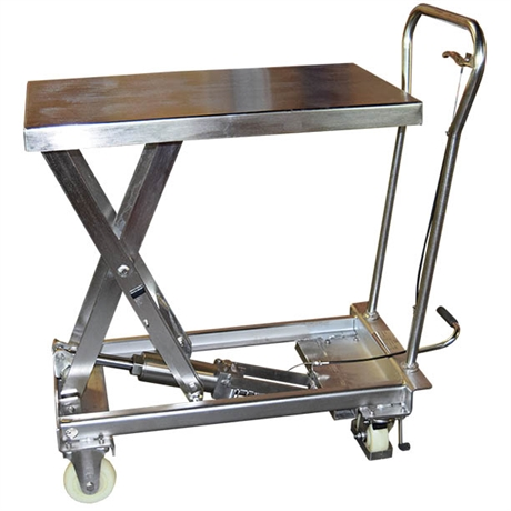 Table élévatrice manuelle inox 304 100 et 200 kg