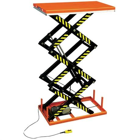 Table élévatrice électrique triple ciseaux 1000 et 2000 kg