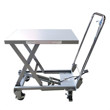 Table élévatrice manuelle aluminium 100 kg