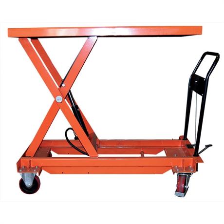 Table élévatrice manuelle grand plateau 500 et 1000 kg
