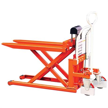 Transpalette haute levée manuel grande stabilité 500 et 1000 kg