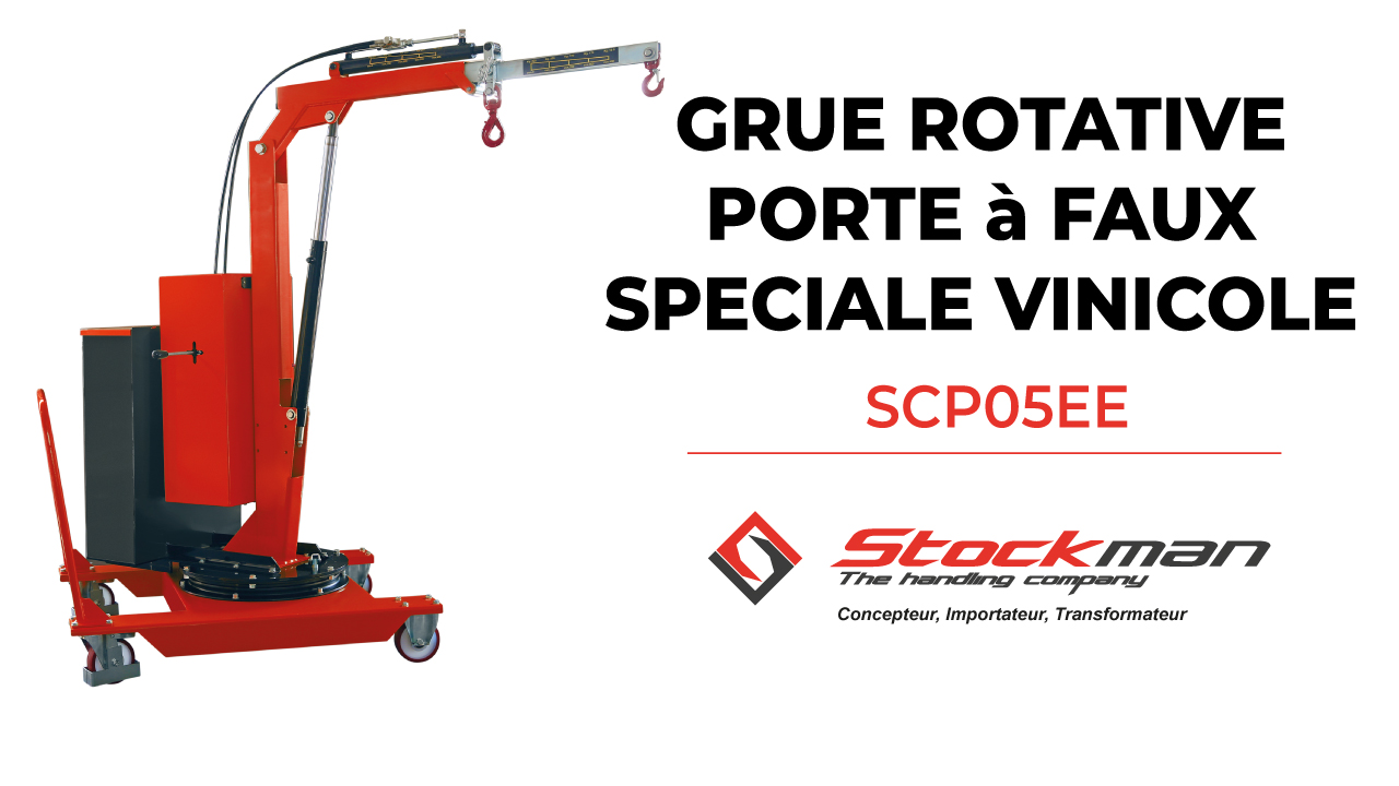 La grue rotative porte-à-faux SCP05EE appliquée au domaine vinicole<br>