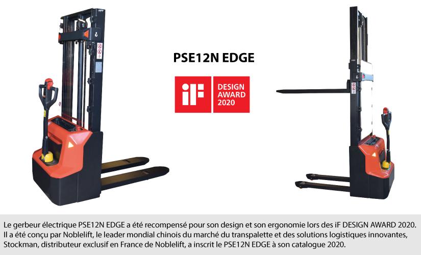 Le gerbeur électrique PSE12N récompensé pour son design et son ergonomie lors des iF DESIGN AWARD 2020