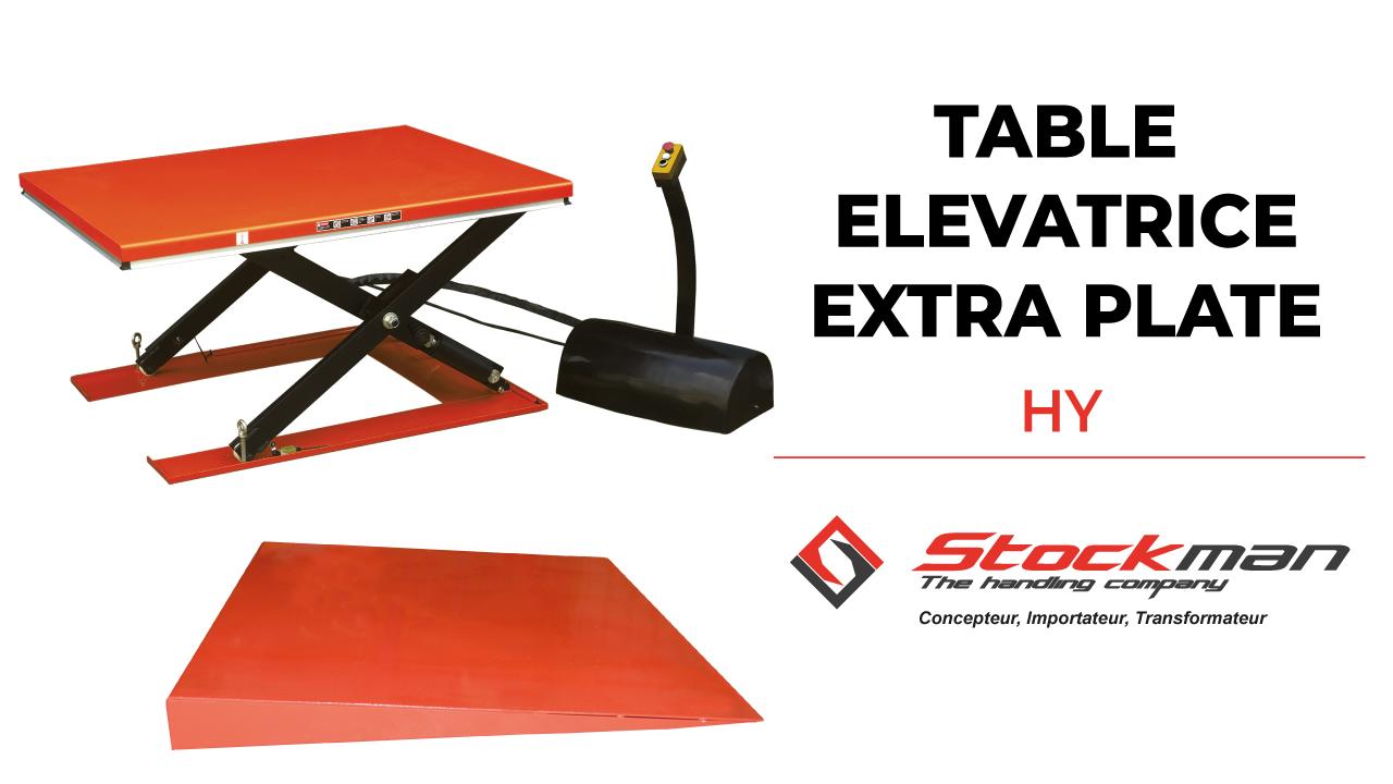 Notre gamme de tables élévatrices électriques extra plates HY