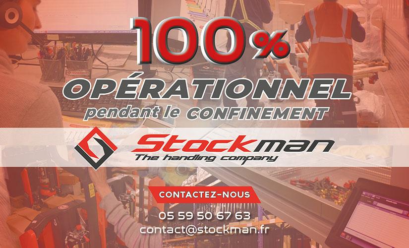 PENDANT LE CONFINEMENT, STOCKMANRESTE 100 % OPÉRATIONNEL