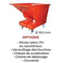 Benne autobasculante 320 à 2500 litres -