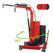 Grue d'atelier porte-à-faux rotative à élévation et extension électriques 500 kg -