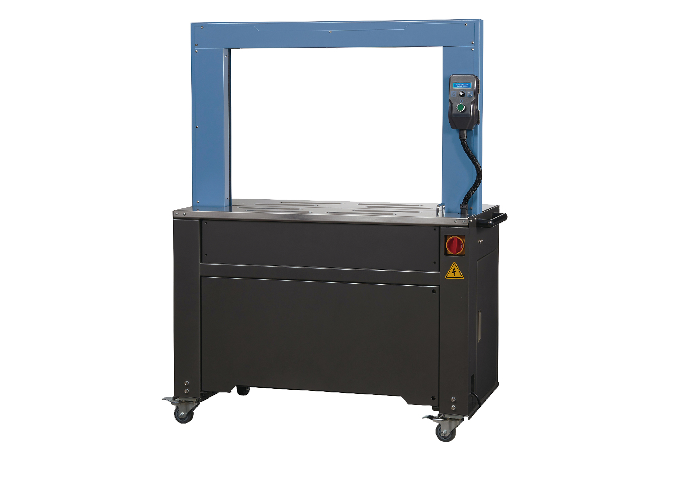 Semi-automatic and automatic strapping machines