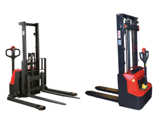 Medium duty semi-electric and electric stackers (warehouse equipment)