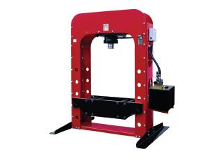 Motorized hydraulic workshop press