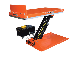 Electric tilting scissor lift table