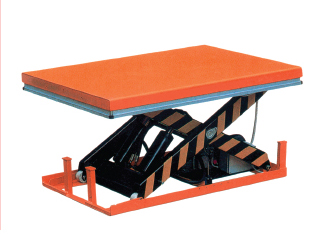 Stationary electric scissor lift tables