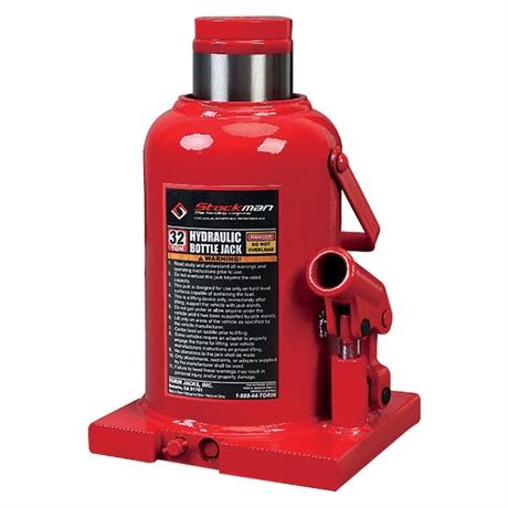 Single-cylinder rod bottle jack 3000 to 32000 kg