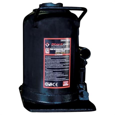 Double cylinder rod bottle jack 4000 and 12000 kg