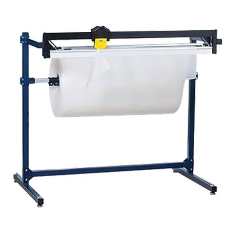 Dérouleur-coupeur pour papier, film à bulle et mousse