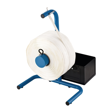 Corded polyester portable strapping dispenser