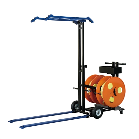Mobile pallet strapping machine for PP and PET strap