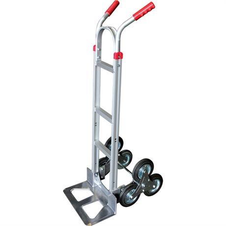Diable aluminium trois roues monte-escalier 150 kg