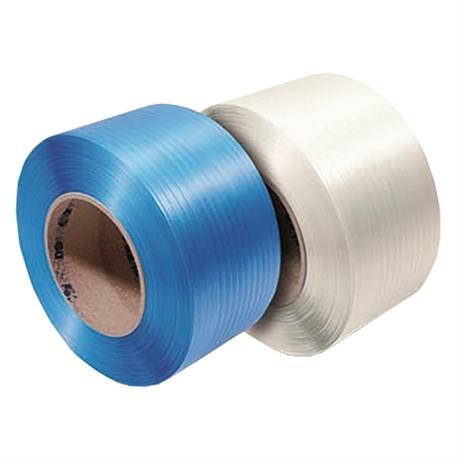 PP12x0.55T200BL - Feuillard polypropylène blanc resistance 120 kg