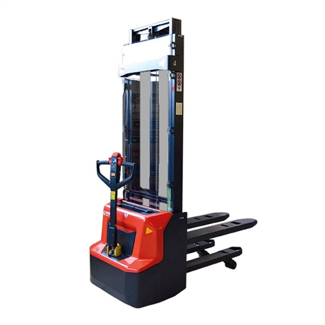 Electrical lithium stacker with initial lift and 1200 kg load capacity