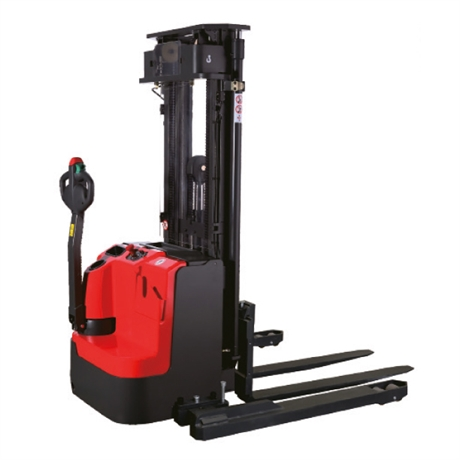 Electric walkie stacker with straddle legs 1600 kg