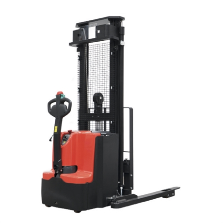 Electric walkie stacker w / straddle legs and central handle 1600 kg