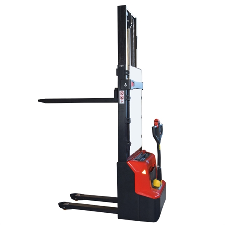 Electrical lithium stacker with 1200 kg load capacity