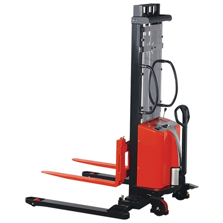 Semi-electric stacker with straddle leg 1000 kg