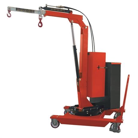 SCP05EE - Grue d'atelier porte-à-faux rotative à élévation et extension électriques 500 kg