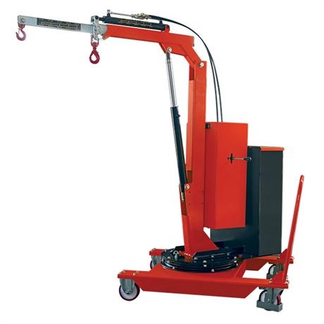 Grue d'atelier porte-à-faux rotative à élévation et extension électriques 500 kg
