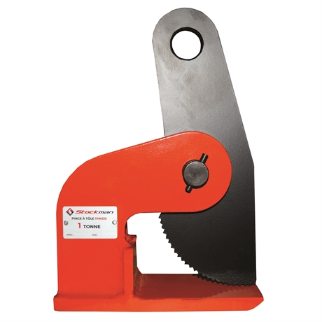 THKS05 - Pince grande stabilité à prise horizontale pour tôle plate 500 kg ouverture max 35 mm
